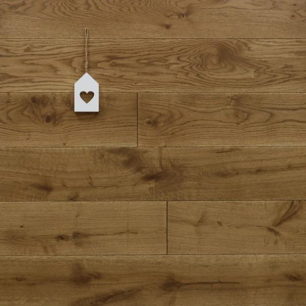 Eiche Schlossdielen aus massivem Holz, 21 x 180 / 200 mm von 2600 bis 5000 mm, Abmessungen nach Ihren Vorgaben, mit Osmo Hartwachsöl 5209 braun geölt, Kanten gefast, Nut / Feder Verbindung, Sonderanfertigung nach Kundenwunsch
