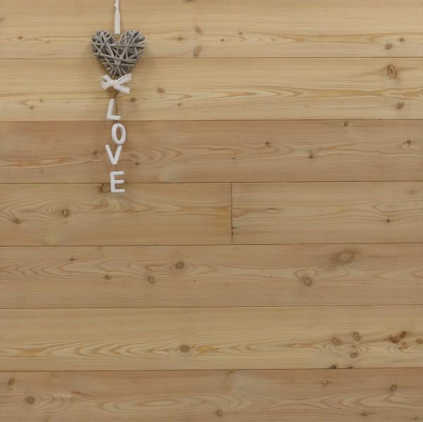 Lärche Schlossdielen aus massivem Holz, 20 x 135 mm von 2950 oder 3950 mm, Markant, Kanten gefast, Nut / Feder Verbindung