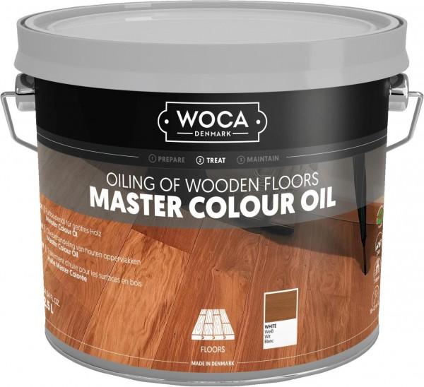 WOCA Meister Bodenöl weiß, Kanister mit 2,5 Liter, zur Erstbehandlung weiß geölter Holzböden
