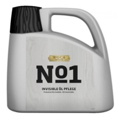 WOCA No1 Invisible Öl Care, Kanister mit 2,5 Liter, zur Erstbehandlung von Eiche Dielen in Rohholzoptik