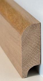 Eiche Sockelleiste aus Massivholz, 20 x 60 mm, Öl und Farbe nach Kundenwunsch