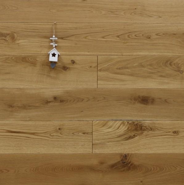 Eiche Schlossdielen aus massivem Holz, 21 x 180 / 200 mm von 2600 bis 5000 mm, Abmessungen nach Ihren Vorgaben, mit Osmo Hartwachsöl 5261 geölt, Kanten gefast, Nut / Feder Verbindung, Sonderanfertigung nach Kundenwunsch