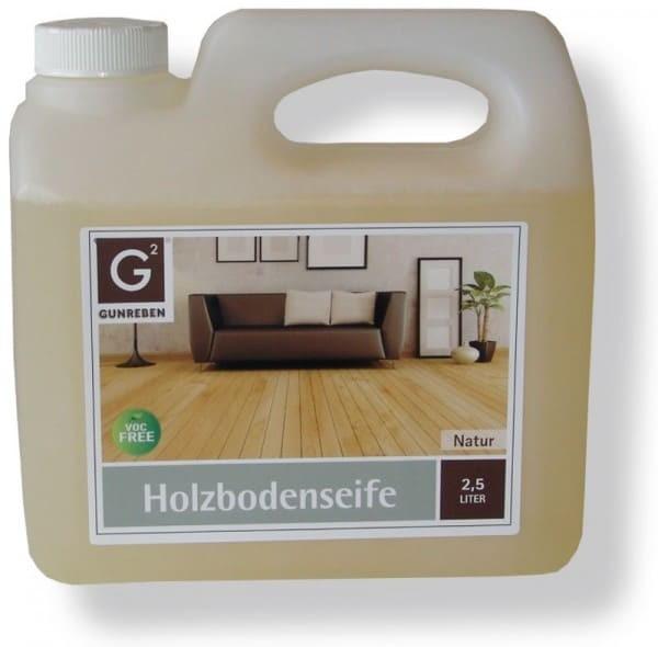 Gunreben Holzbodenseife natur, Kanister mit 2,5 Liter, für die wiederkehrende Reinigung geölter Holzböden
