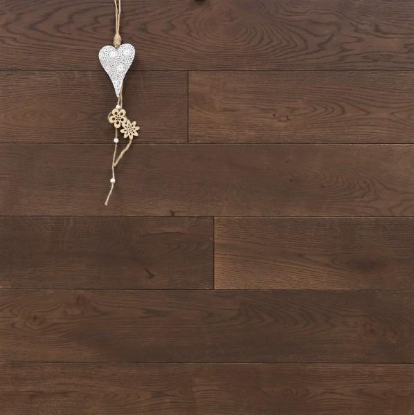 Eiche Schlossdielen aus massivem Holz, 21 x 180 / 200 mm von 2600 bis 5000 mm, Abmessungen nach Ihren Vorgaben, mit Rubio Monocoat R306 chocolate geölt, Kanten gefast, Nut / Feder Verbindung, Sonderanfertigung nach Kundenwunsch