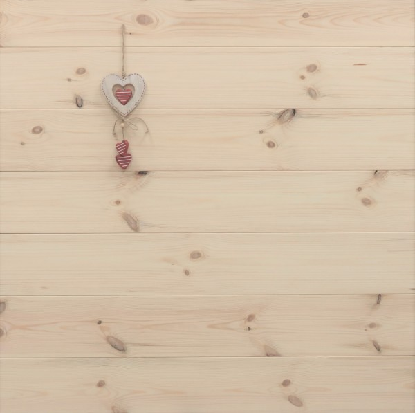 Kiefer Schlossdielen aus massivem Holz, 27 x 182 mm von 3250 bis 5350 mm, Markant bzw. AB, optional in Fixlänge, Kanten gefast, Nut / Feder Verbindung