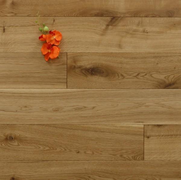 Eiche Schlossdielen aus massivem Holz, 21 x 180 / 200 mm von 2600 bis 5000 mm, Abmessungen nach ihren Vorgaben, mit einem Naturöl geölt, Kanten gefast, Nut / Feder Verbindung, Sonderanfertigung nach Kundenwunsch