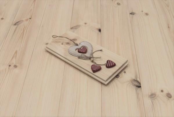 Kiefer Schlossdielen aus massivem Holz, 21 x 137 mm von 3250 bis 5350 mm, Markant bzw. AB, optional in Fixlänge, Kanten gefast, Nut / Feder Verbindung
